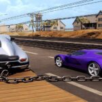 Chained Car Stunts Race Mega Ramp GT Racing