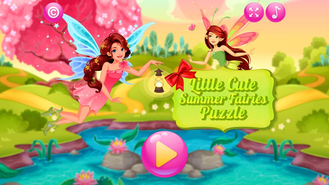Image Little Cute Summer Fairies Puzzle